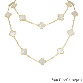 Van Cleef & Arpels Yellow Gold Vintage Alhambra Necklace VCARA42100